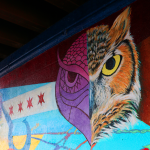 CAPE North-Grand Mural Owl Detail