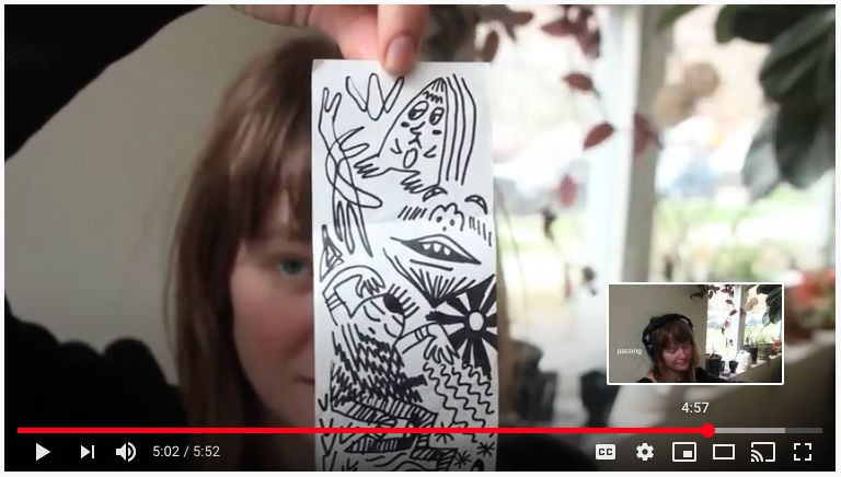 CAPE Online Learning Hub Gwenyth Anderson Holds Up Doodle