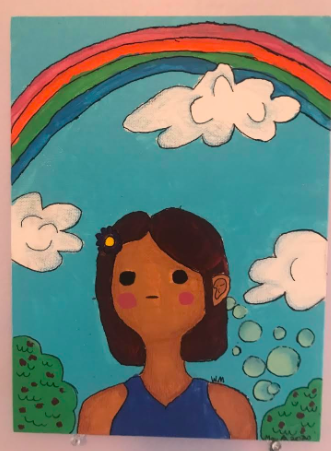 A drawing from a CAPE student at Ravenswood Elementary featured in the virtual Convergence exhibition.